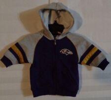 Baltimore Ravens Purple Zip Up Hoody Sweatshirt Baby Size 3-6 Months (u)
