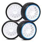 4PCS RC 1:10 On-Road Drift Car Plastic Tyre Tires & Wheel Rim For HPS 9067-9015