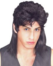FANCY DRESS WIG ~ MENS MULLET WIG BLACK
