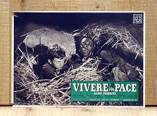 VIVERE IN PACE fotobusta poster affiche Aldo Fabrizi Ave Ninchi Gar Moore A33