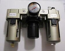 New 34 Npt Compressed Air Filter Pressure Regulator Lubricator Combo Frl