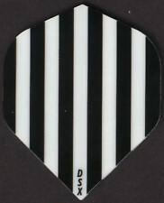 Black and White Stripes Dart Flights: 3 per set