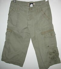 GAP KIDS -OLIVE GREEN CARGO PANTS WITH EMBROIDERY - 5 REGULAR - FREE SHIPPING