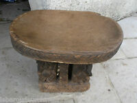 Ancien banc Africain ayant servi african art premier tribal used item