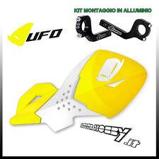 PARAMANI UNIVERSALI CROSS ENDURO UFO ESCALADE GIALLO + KIT MONTAGGIO ALLUMINIO