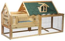 Luxus Kaninchenstall Hasenstall XXL mit Freigehege Nagerstall Kleintierstall XL