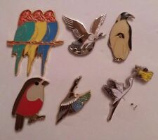 LOT (6x) BIRD CHARITY ENAMEL PIN BADGES NOT RSPB YOC #1