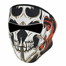 US - 2 In 1 Windproof Skull Half Face Mask Neoprene Headwear Motorcycle Cycling
