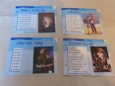 LYNDA LEMAY - Lot de 4 fiches Atlas + 3 fiches Platine !!!