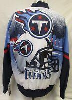 Tennessee Titans Men's M, L, 3XL Snap-Up Graffiti Designer Satin Jacket NFL A14