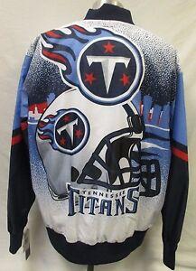 Tennessee Titans Men's NFL Snap-Up Graffiti Designer Satin Jacket
