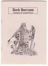 DARK HORIZONS #9-15 INDEX - 1977 British Fantasy Society fanzine - Adrian Cole
