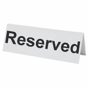 BarBits Flexible Plastic Reserved Table Sign - Tabletop Restaurant Cafe Bar