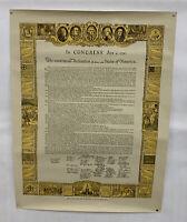 Vintage 1964 Sertoma International Freedom Program Declaration Of Independence