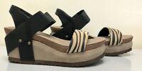 NIB Women's Hokus Pokus HP Jenny New Tiger Wedge Sandal Shoes 8 M