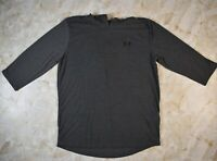 Men's Under Threadborne Hooded Gray Short Sleeve Shirt Size Medium