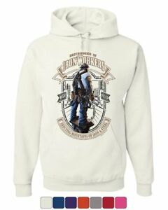 Brotherhood of IronWorkers Hoodie Blue Collar Job Construction Sweatshirt