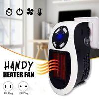 500W Mini Chauffage Ventilateur Portatif Chauffage D'Appoint Bureau Maison Heate