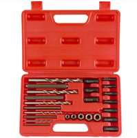 Screw extractor,drill Guide Set 25PC bolt stud remover easy out eazi.