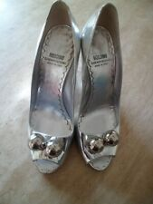 Gorgeous Moschino CheapandChic Unusual Silver Wedge Shoes UK 7/40