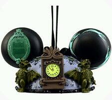 Disney Parks Haunted Mansion Mickey Ear Hat Christmas Ornament Glow In The Dark
