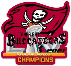 Tampa Bay Buccaneers Super Bowl LV 55 Champions Football Logo Die-cut MAGNET