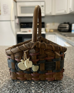 """Decorative  Multicolor Woven basket with apples On Side 6"""""""