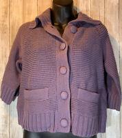 J. JILL Women's Cardigan SWEATER Purple SIZE Extra Small Petite XSP New NWT