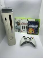 Microsoft Xbox 360 60 GB White Console with 3 Games + Controller & Power Brick