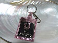 Ungaro Advertising Key Chain Holder Metallic Pink with Silvertone Metal Overlay