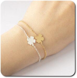 Bracelet Stainless Steel Clover Luck Charm Necklace Pendant