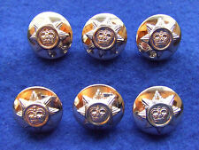 6 X ROYAL CORPS OF TRANSPORT 19MM GOLD MILITARY BUTTONS IDEAL FOR JACKET/BLAZER