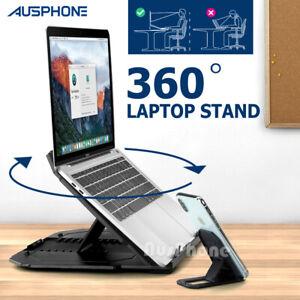 Ergonomic Adjustable Laptop Stand Portable Home Desk Riser Office Holder Tray