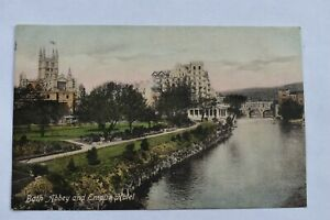 Vintage Postcard Bath Abbey & Empire Hotel Somerset Posted