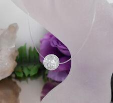 Unsichtbare Kette schwebende Crash Glas Perle 10 mm Klar - Nylon transparent