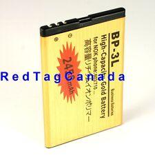 2450mAh Li-Ion Gold Battery for NOKIA LUMIA BP-3L 603 610 710 303 3030- Canada