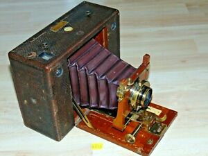 Kodak Cartridge Nr.4 Eastmann Plattenkamera Kodak Co U.S.A. Lens Objektiv Doppel