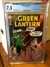 Green Lantern #71  DC 1969  CGC 7.5  Great Gil Kane art!!!!!!!