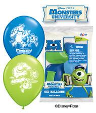 "6 pc 12"" Disney Monsters University Party Latex Balloons Happy Birthday Inc."