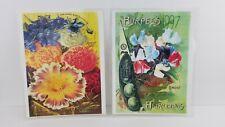 Vintage BURPEE SEEDS Ads Prints Displays Plastic Heirlooms Flower Lot Of 2 S8