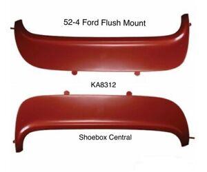 1952 1953 1954 Ford Flush Mount Steel Metal Fender Skirts Kit