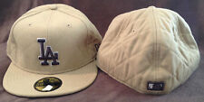 Los Angeles Dodgers New Era 59FIFTY Fitted Hat 100% Wool Brown Mens Size 7 3/4