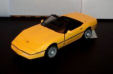 Franklin Mint 1986 Yellow Corvette Convertible with Hang Tag 1:24 Scale