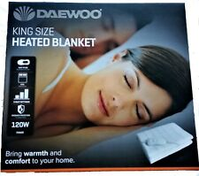 Daewoo White King Size Home Washable Heated Electric Blanket 142 X 150cm Hea1488