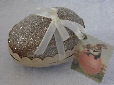 2005 Wendy Addison Midwest Silver Glass Glitter Easter Egg