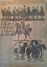 JUNE 27, 1909 NEWSPAPER #J5599- EQUESTRIAN- GIRLS CALVARY CORPS IN ST. LOUIS