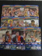2003 AFL TEAMCOACH BLUE PRIZE TEAM SET FREMANTLE 9 CARDS