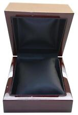 Watch or Bracelet Box Cherry Wood Finish with Faux Leather Interior and Pillow
