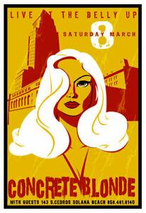 Scrojo Concrete Blonde 2003 Poster Belly Up Tavern ConcreteBlonde_0303