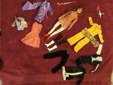 """Vintage Uneeda Red Hair Dollikin in Jumpsuit, Extra outfit  11 1/2"""" Doll"""